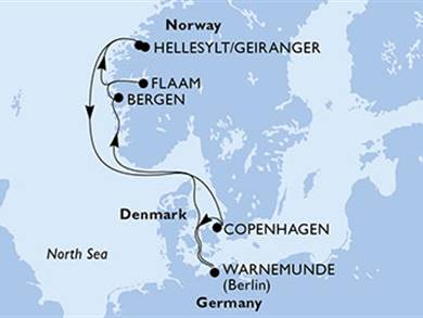 MSC Nord Europa Germania, Norvegia...